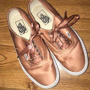 Vans Satin Lux Sneakers in Rose Gold